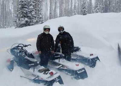 heavy snow snowmobiling