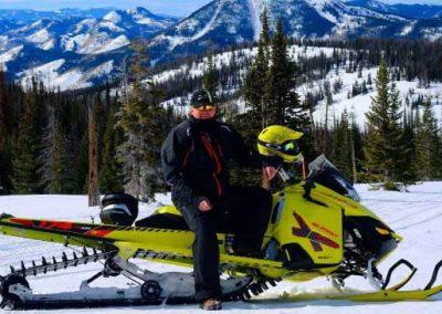 snowmobiling on colorado mountains